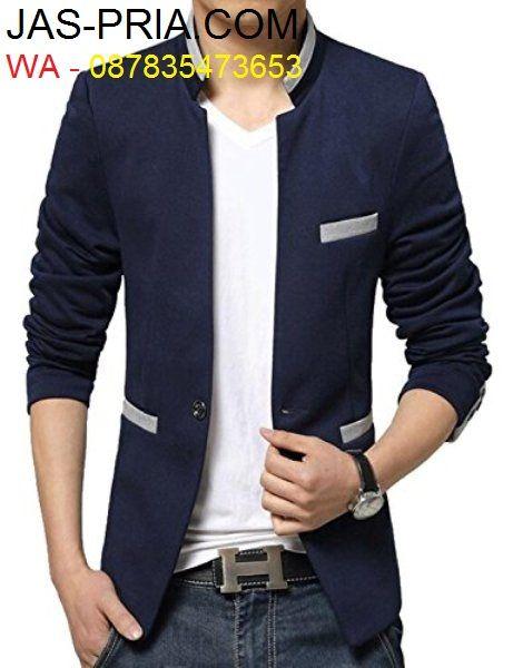 katalog model dan desain blazer jas semi formal pria yang terbaru dengan gaya slimfit anak muda korea keren dan modis buat nongkrong maupun kondangan
