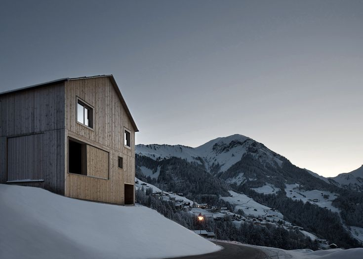 Bernardo Bader's Haus Fontanella is a chalet built from local wood