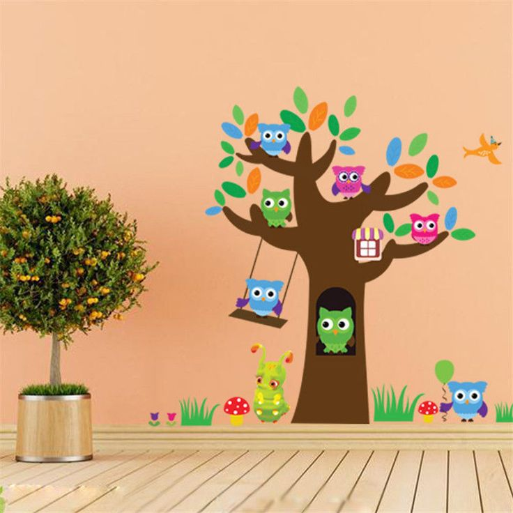 Cartoon Tree Owl Kids Room Removable Wall Sticker Decal Vinyl Art Home Decor