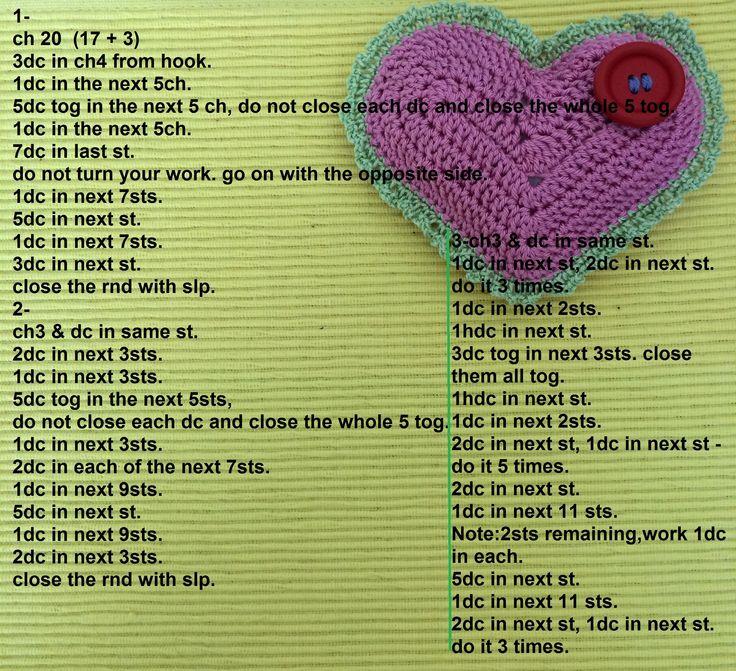 crochet heart free pattern | crochet lover | Pinterest | Crochet ...