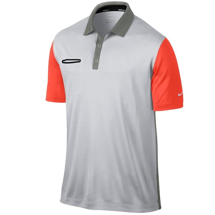 Using 100% Dri-Fit recycled polyester this mens lightweight innovation color golf polo shirt by Nike will keep you dry and comfortable all day long