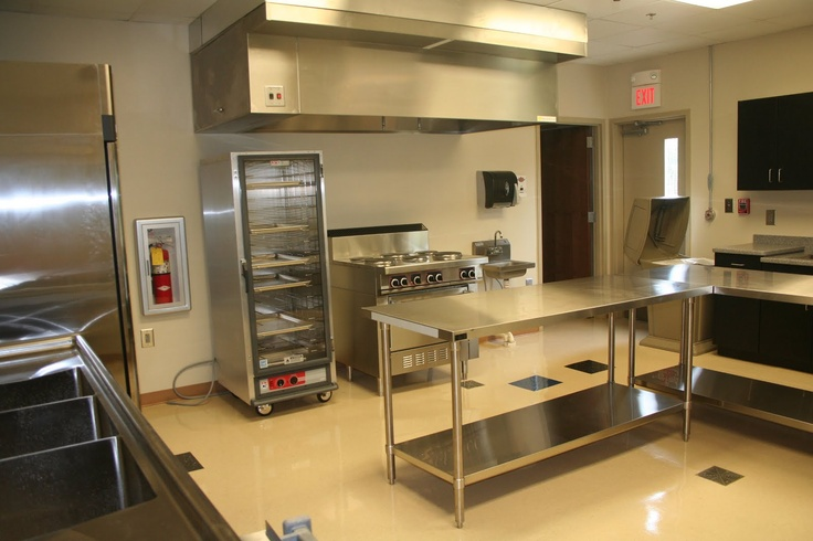 This is our commercial kitchen in the basement the for Small commercial kitchen layout ideas