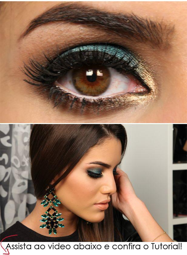 chic green makeup