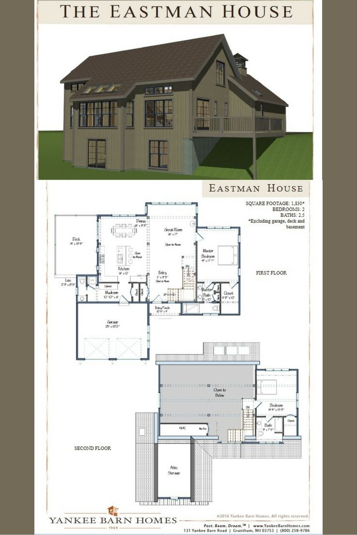 52 best images about barn home floor plans on pinterest for Two story barn house plans