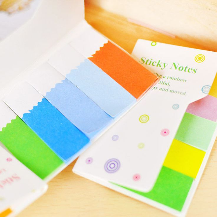Office Sticker Marker Flags Bookmark Post It Memo Page Sticky Notes Index Tab