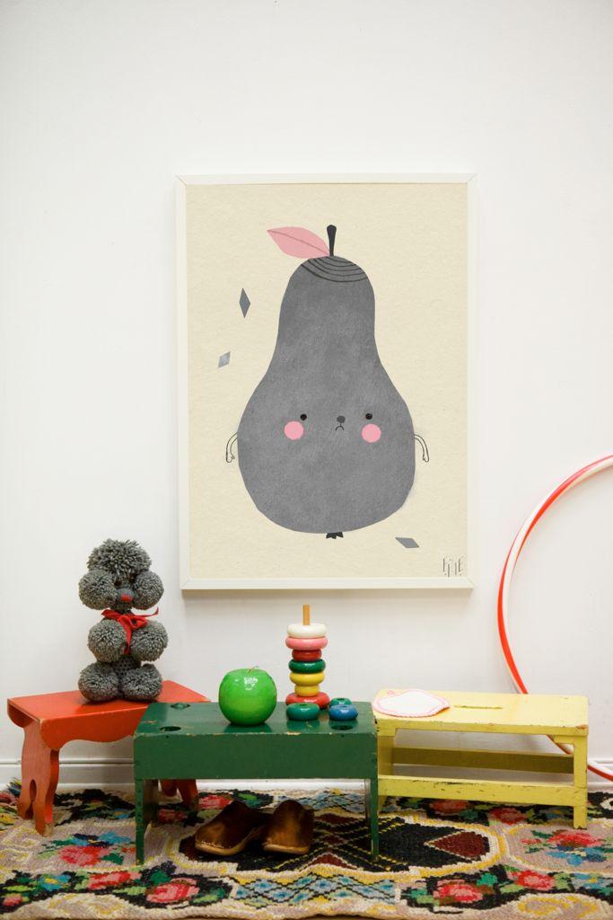 Fine Little Day Pirum Parum Pear Nursery Wall Print