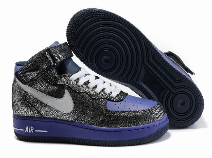 men's nike navy & white air force 1 mid trainers nz