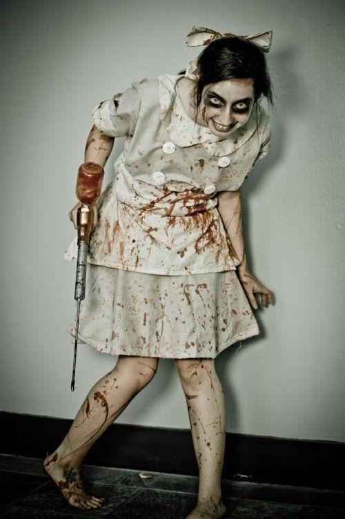 costume et maquillage Halloween: idée pétrifiante