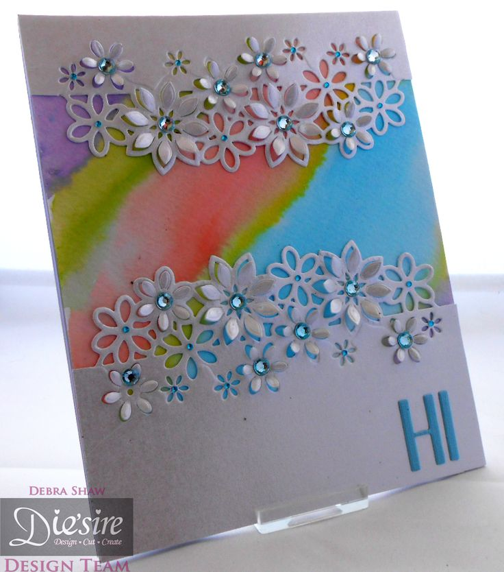 Die'sire Fancy Edge'ables Floral Dance - Spectrum Aquas -  Watercolour card - Centura Pearl - Stick it sheet - Die'sire Contemporay Alphabet - Collall Tacky Glue - #crafterscompanion