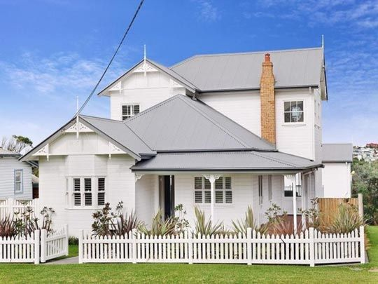 Australian heritage style home with gabled roof