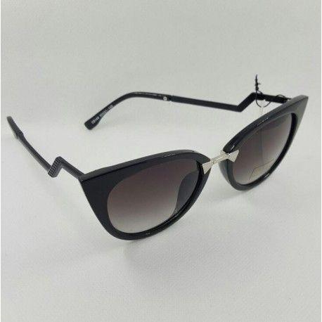 Cat Style vintage Woman Sunglasses black frame with black len