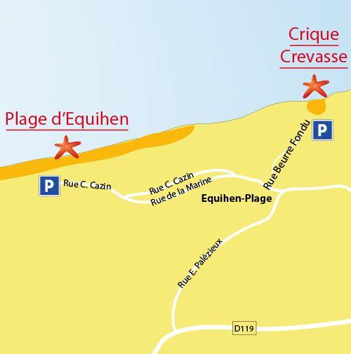 Crevasse Cove in Equihen-Plage - Pas-de-Calais - France - Plages.tv