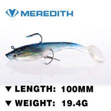 Meredith pesca 4 pcs 19.4 g 10 cm cauda longa chumbo macio peixe iscas de pesca de pesca luminosa enfrentar macio isca gancho baixo(China (Mainland))                                                                                                                                                                                 Mais