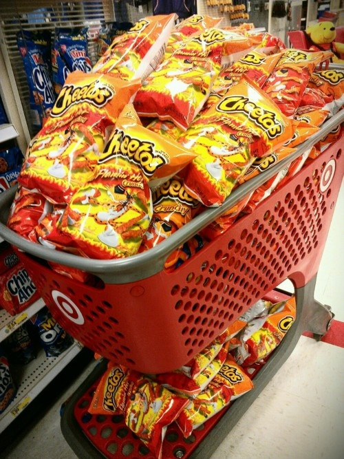 oh YES it's all about the Flamin Hot CHEETOS haha