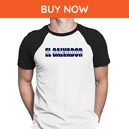 Teeburon El Salvador Flag Raglan T-Shirt - Cities countries flags shirts (*Amazon Partner-Link)