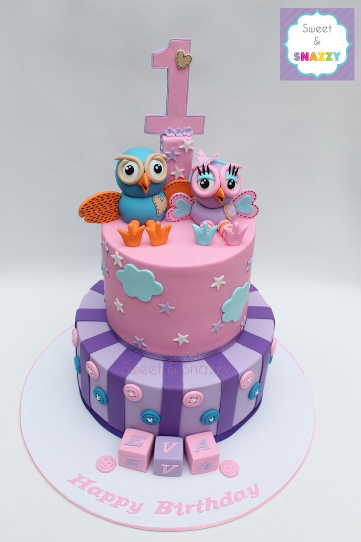 Hoot & Hootabelle Cake by Sweet & Snazzy https://www.facebook.com/sweetandsnazzy
