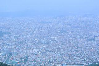 View over Daegu, South Korea from Mt Apsan, July 2013. #cityscape #city #urban #daegu #korea