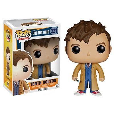 Funko Doctor Who Pop! TV Vinyl Collectors Set: Fourth Doctor, Tenth Doctor, Eleventh Doctor, Twelfth Doctor