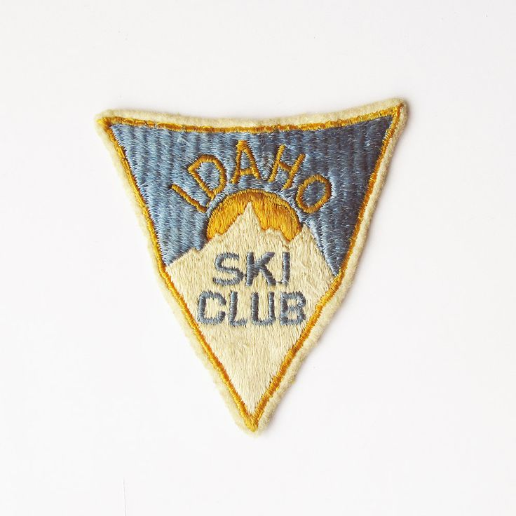 1950s Idaho Ski Club Embroidered Patch - Ski Jacket Patch - Vintage Skier's Patch by leapinglemming on Etsy