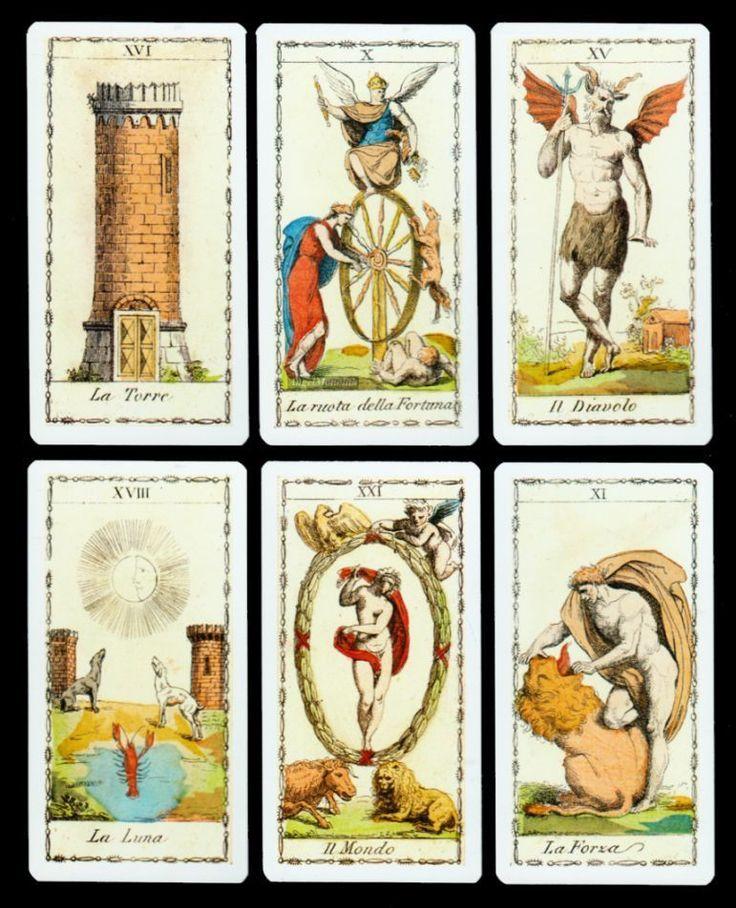 NEU Rarität Antike Lombarden Tarot Ferdinand Gumppenberg Mailand 1810 Marseille