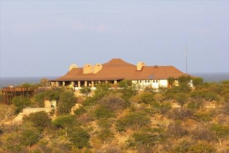 The main building of the Etosha Safari Lodge.