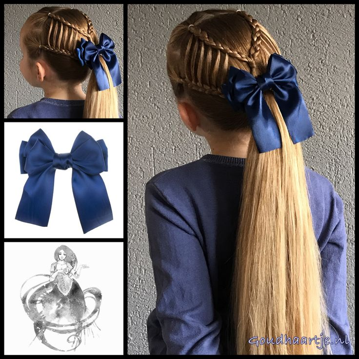 Feathered braids into a ponytail!