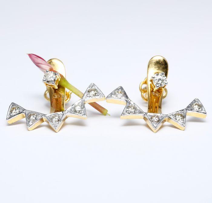Gecertificeerd goud met diamanten ontwerper oorbellen gemaakt van 14 kt hallmarked geel goud.  EUR 1.00  Meer informatie