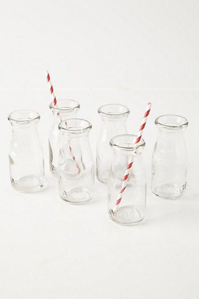 Glass Milk Bottles #anthropologie