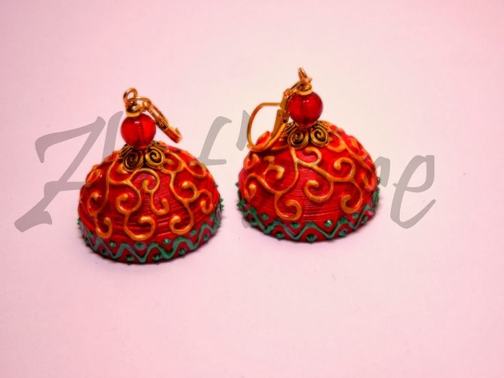 Posted by Pritesh Dagur Quilling Me Softly: Carving effect on quilled jhumkas