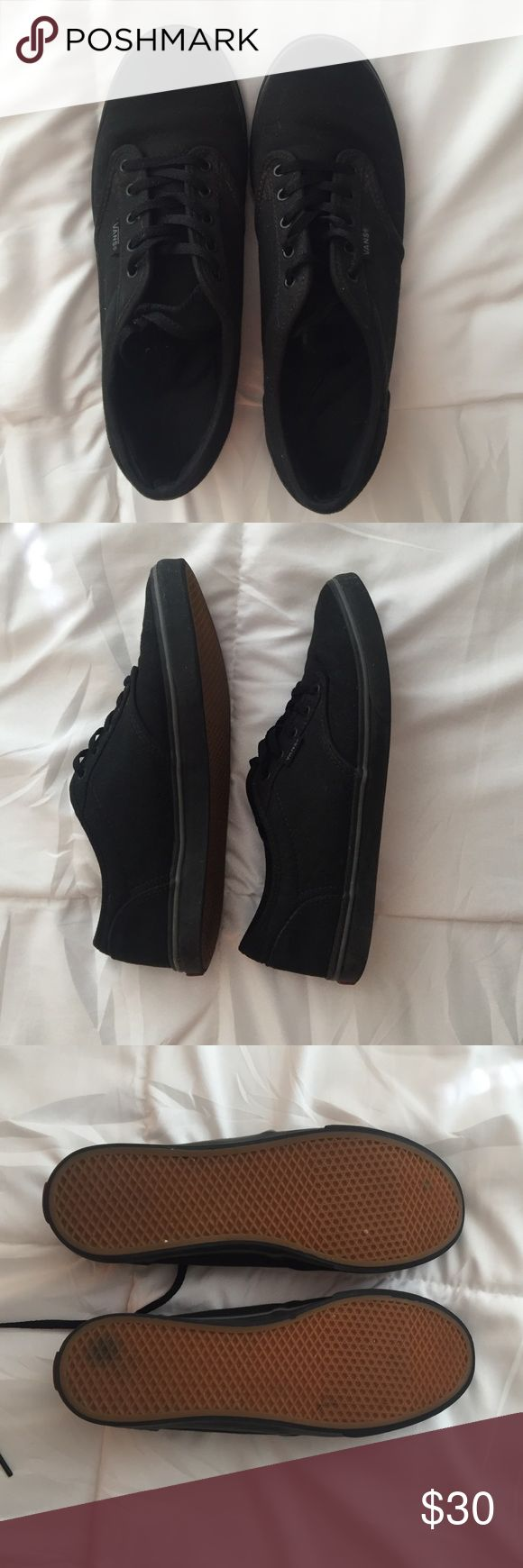 BLACK VANS WORN ONCE OR TWICE IN GREAT CONDITION!! Vans Shoes Sneakers