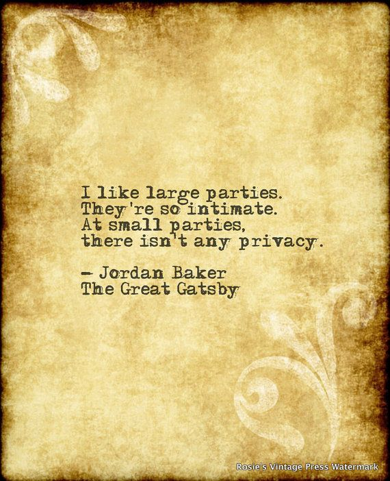 Jordan Baker, The Great Gatsby. | Literary Quotes ...
