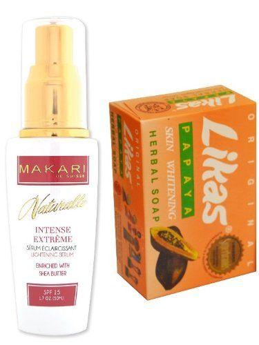 Premium Papaya Soap Bar Likas + Makari Naturalle INTENSE EXTREME Skin Lightening Serum w/ Shea Butter 50ml , for Hyper-pigmentation, uneven skin tone + dark age spots - http://best-anti-aging-products.co.uk/product/premium-papaya-soap-bar-likas-makari-naturalle-intense-extreme-skin-lightening-serum-w-shea-butter-50ml-for-hyper-pigmentation-uneven-skin-tone-dark-age-spots/