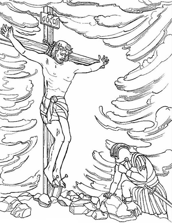 Crucify Of Jesus In ResurrectionLOTS Bible Coloring Book Pages On This Site