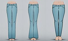Selecione o seu tipo de corpo no infográfico do GNT e descubra o modelo de jeans ideal para valorizar a sua silhueta.
