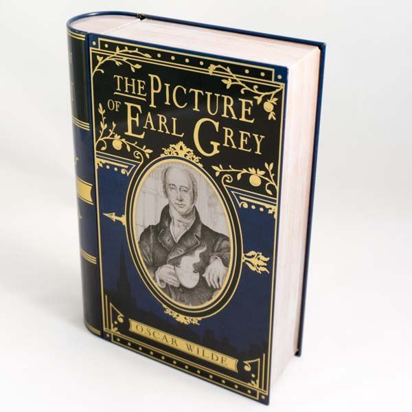 The Picture of Earl Grey Tea Book Tin Top View