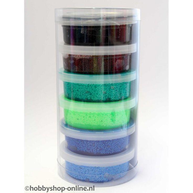 Luchtdrogende klei box basic, licht in gewicht 6 kleuren