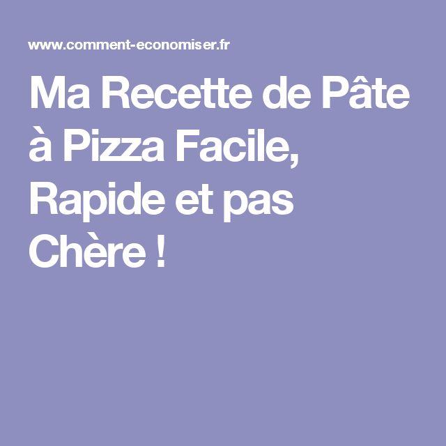 25+ best ideas about Pizza facile on Pinterest Recette pizza - faire un plan de maison facilement