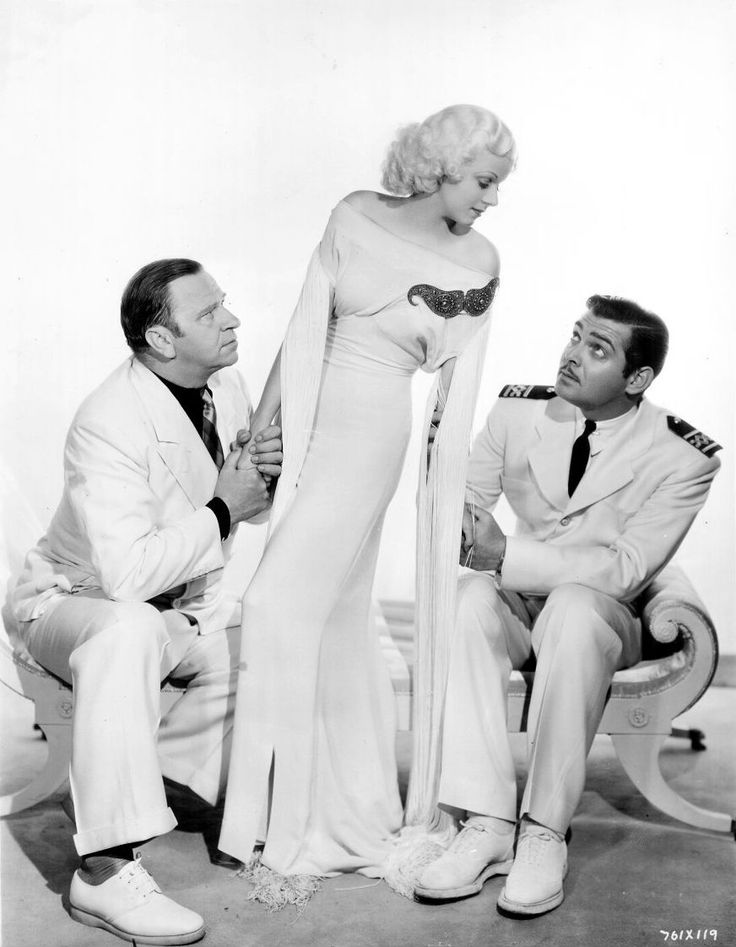"""Wallace Beery, Jean Harlow and Clark Gable publicity still for """"China Seas"""", 1935"""