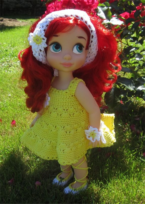 82- FICHE PATRON Tenue Paquerette au crochet pour poupée Animator : Jeux, jouets par atelier-crochet