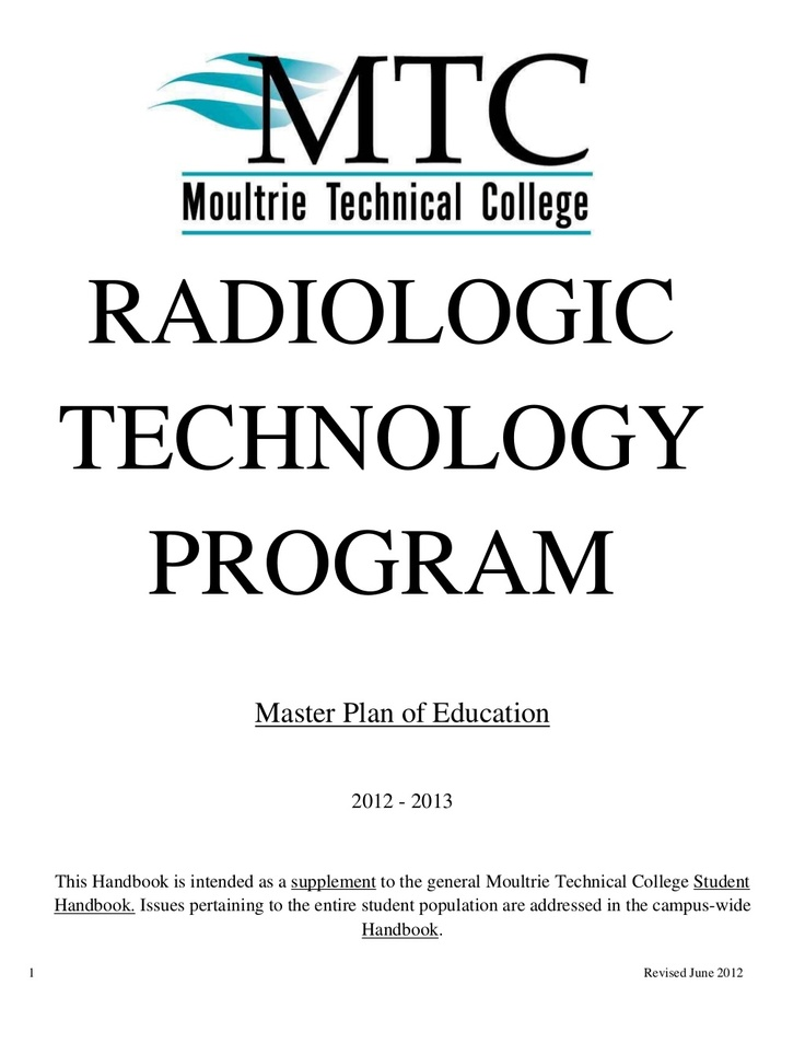 rad-tech-master-plan by Moultrie Technical College via Slideshare