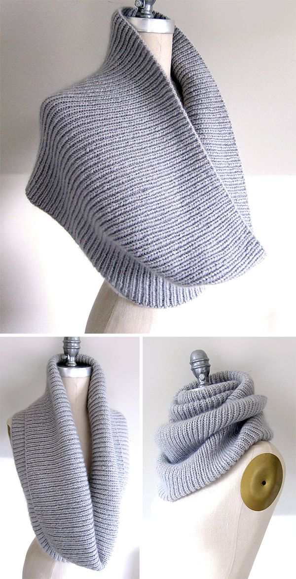 Free Knitting Pattern for Easy On the C Train Cowl…