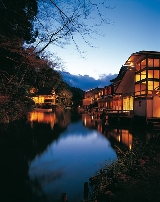 Relais & Chateaux - It is said that the great teacher of Japanese Buddhism, Kobo Daishi, bathed each morning in the river Katsura and emerged with his mind and body purified. A few minutes from this river, the hotel Asaba submerges you in the Japan of legends where Zen takes over your five senses. Asaba - JAPAN  #relaischateaux #nights