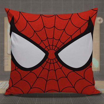 Spiderman Face Superhero Marvel pillow case, pillow cover, cute and awesome pillow covers - Visit now to grab yourself a super hero shirt today at 40% off!