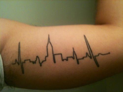 New York pulse. Wish I thought of this BEFORE I got my pulse tatt :/