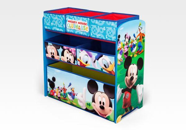 Mickey Mouse 6 Bin Multi-Bin Organizer by Delta Children #Mickey #Disney #furniture #kids