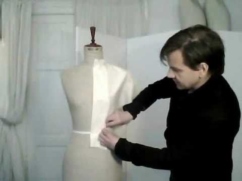 TUTORIAL! 1. How to drape a basic pattern, ladies' front - by bespoke tailor Sten Martin
