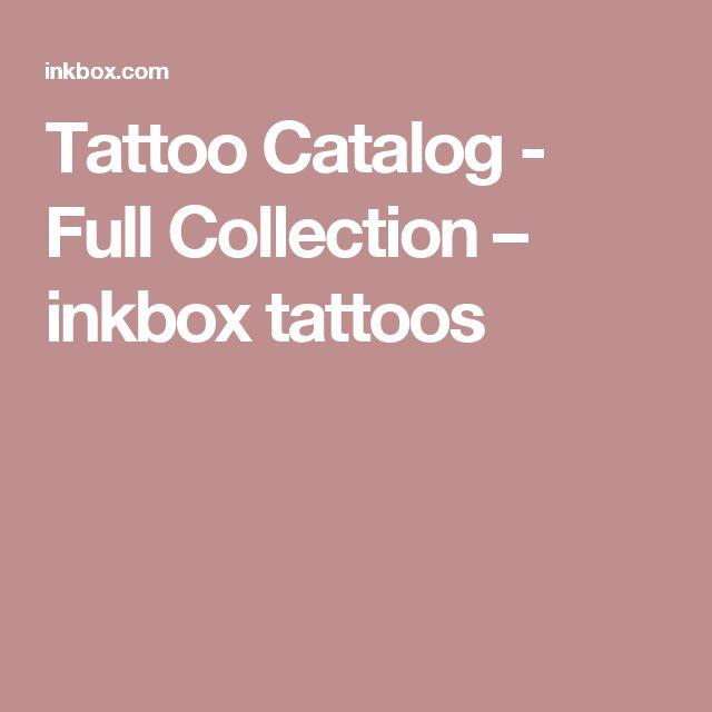 Tattoo Catalog - Full Collection – inkbox tattoos