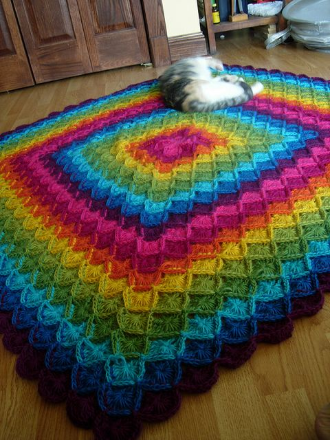Wool Eater Blanket By Sarah London - Free Crochet Blanket - (ravelry)