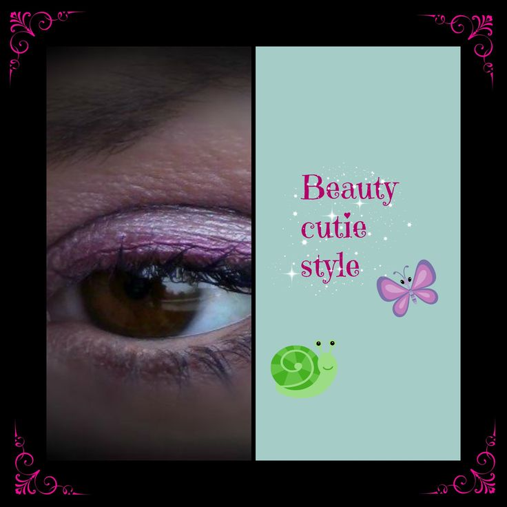 Look met roze eyeliner van oogschaduw.