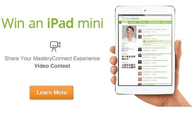 Win a mini iPad from Mastery Connect - if you haven't tried this web tool, you should!  Mastery Connect is a free tool where you can get free assessments, network with other teachers, and grade tests quickly with their smart app!